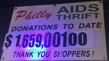 Philly AIDS Thrift fundraising success to-date.